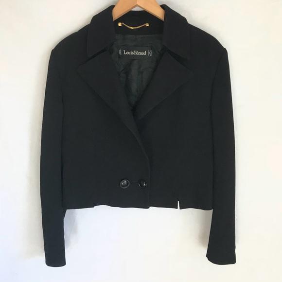 Louis Feraud Jackets & Blazers - Louis Feraud Black Cropped Blazer Suit Jacket 8